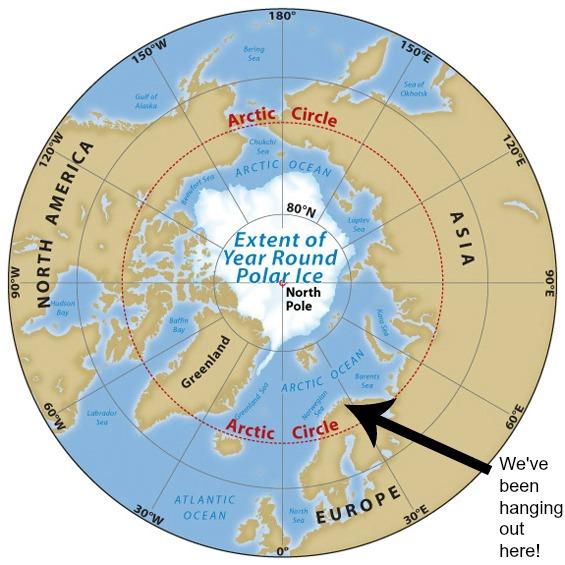 Arctic Line : Into the arctic circle critical path