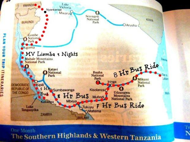 Rwanda bound map